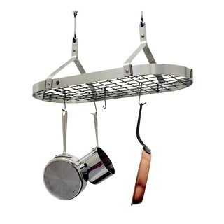 Enclume Handcrafted Contemporary Ceiling Pot Rack Stainless Steel