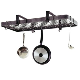 """Enclume Handcrafted 37"""" Low Ceiling Rectangle Pot Rack https://ak1.ostkcdn.com/images/products/16818897/P23121369.jpg?_ostk_perf_=percv&impolicy=medium"""