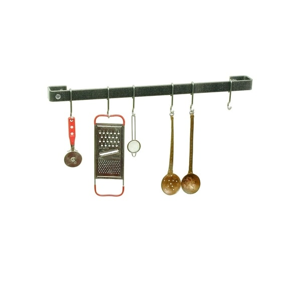 "Enclume Handcrafted 30"" Wall Rack Utensil Bar w/ 6 Hooks"