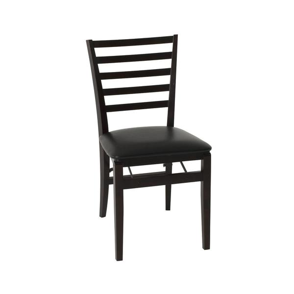 Shop Cosco Contoured Back Espresso Wood Folding Chair With