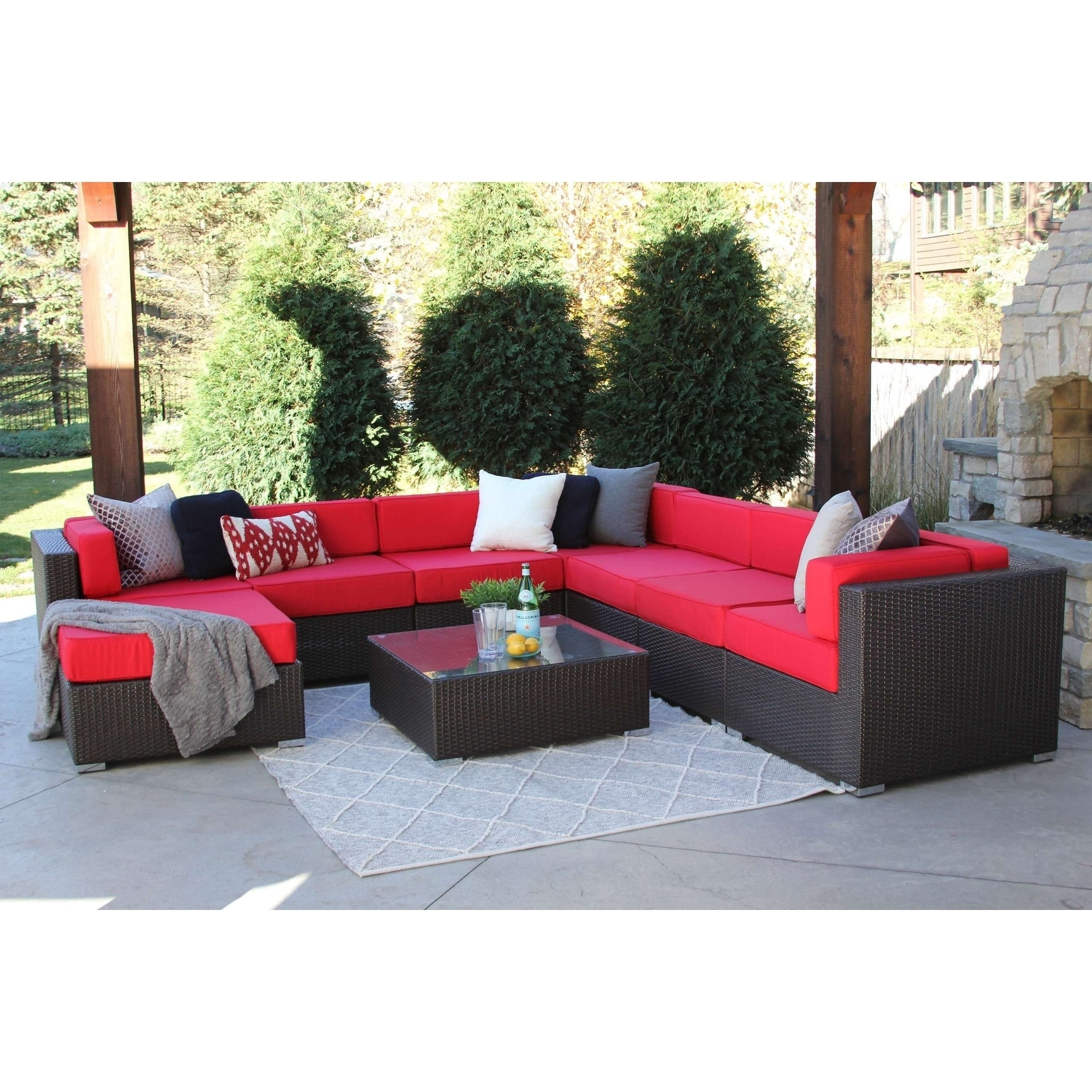 Red Outdoor Sofas Chairs Sectionals For Less Overstock