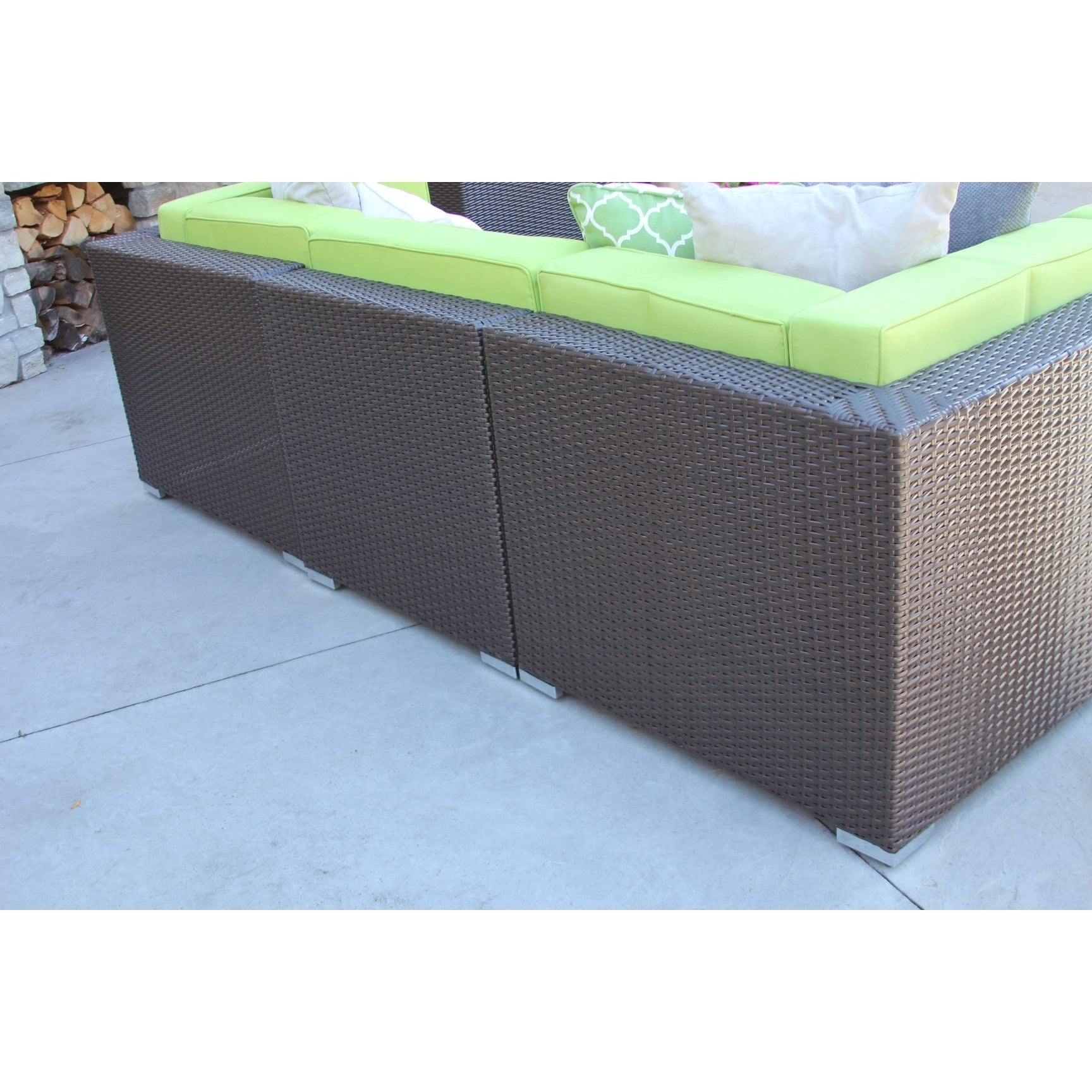 Details About Dupont 7 Pc Modern Outdoor Rattan Patio Furniture Sofa Set Modular