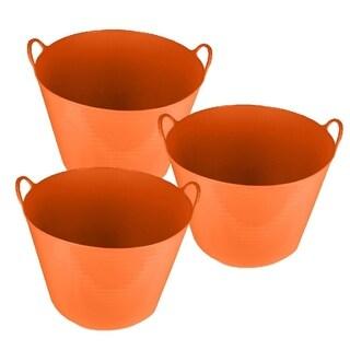 25L Flex Tub 3-Pack-Orange