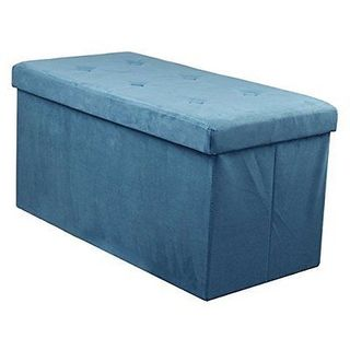 Sorbus Storage Bench Chest  Contemporary Faux Suede (Small, Teal)