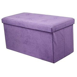 Sorbus Storage Bench Chest  Contemporary Faux Suede (Small, Purple)