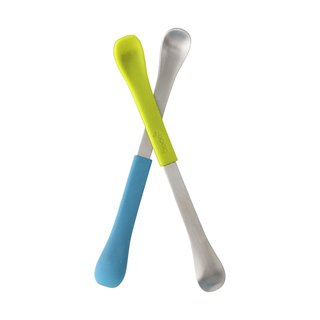 Boon Green/Blue 2-in-1 Feeding Spoon (Pack of 2)
