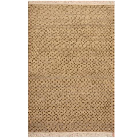 Handmade One-of-a-Kind Tibetan Wool Rug (India) - 2' x 3'