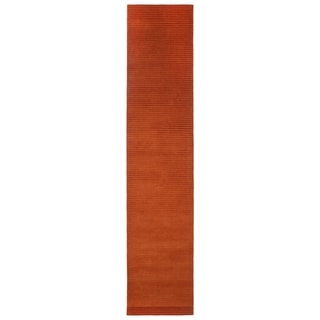 Copper Pulse Wool Runner Rug (2.5' x 12')