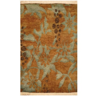 Herat Oriental Indo Hand-knotted Tibetan Wool Rug (2'1 x 3'2)