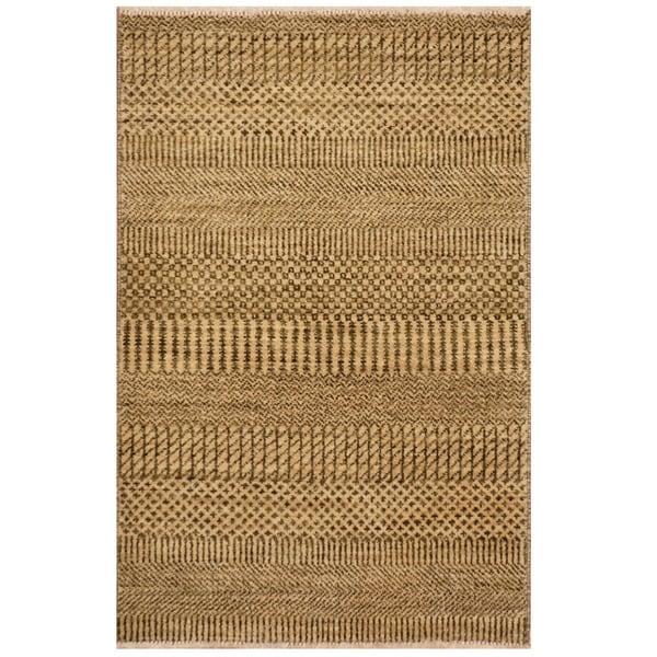 Handmade Herat Oriental Indo Tibetan Wool Rug (India) - 1'11 x 3'