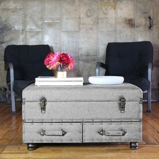 """17""""H Linen Layton Storage Trunk (More options available)"""