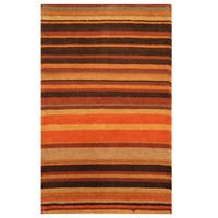 Herat Oriental Indo Hand-knotted Tibetan Wool Rug - 1'10 x 3'
