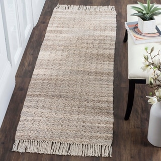 Safavieh Boston Coastal Beige/ Ivory Cotton Runner Rug (2'3 x 7')