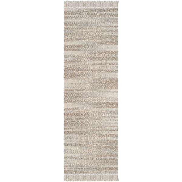 Safavieh Boston Coastal Beige/ Ivory Cotton Runner Rug (2'3 x 7')