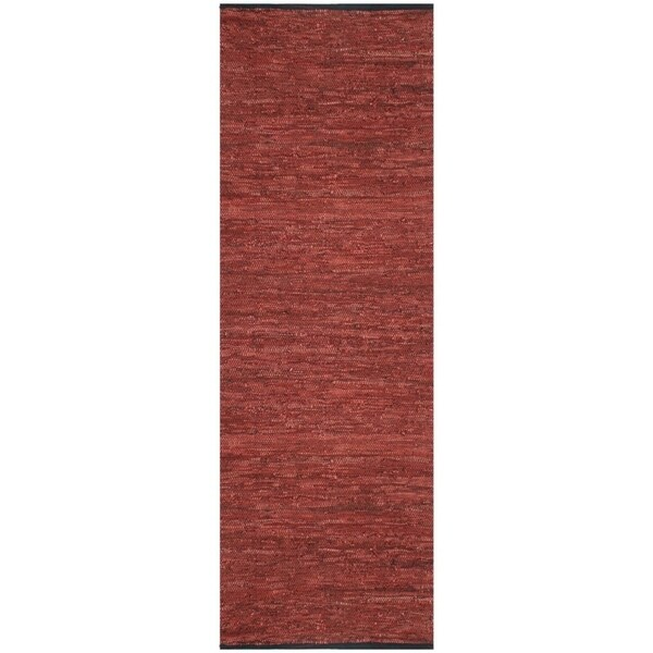 Copper Matador Leather Chindi (2.5'x14') Runner