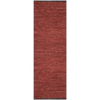 Copper Matador Leather Chindi (2.5'x14') Runner