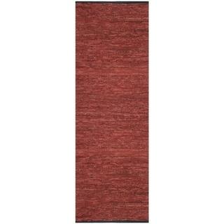 "Copper Matador Leather Chindi (2.5'x8') Runner - 2'6"" x 8'"