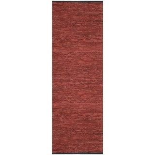 Copper Matador Leather Chindi (2.5'x8') Runner