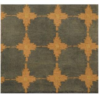 Herat Oriental Indo Hand-knotted Tibetan Wool Rug (2' x 2'1)