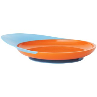 Boon Blue/Orange Catch Plate With Spill Catcher