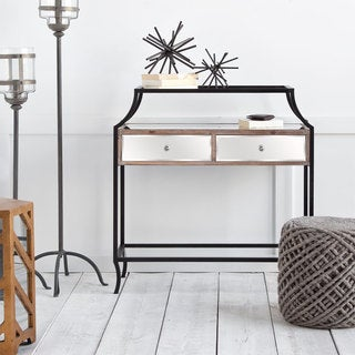 Mercana Sustados Brown Wood and Metal Console Table