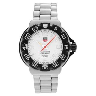 Tag Heuer Men's WAC1111.BA0850 'Formula 1' Stainless Steel White Dial Link Bracelet Watch