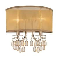 Crystorama Hampton Collection 2-light Antique Brass Wall Sconce