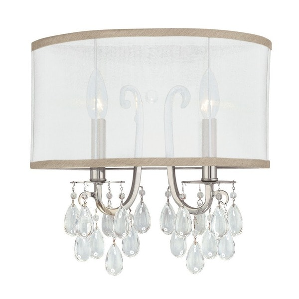 Crystorama Hampton Collection 2-light Polished Chrome Wall Sconce