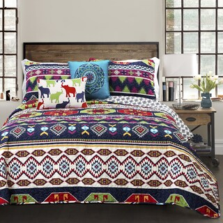 Lush Decor Sanora 5-piece Reversible Quilt Set
