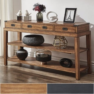 Lonny 3-Drawer Wood Console Table TV Stand by iNSPIRE Q Classic