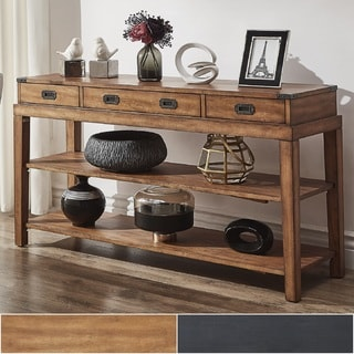Lonny 3 Drawer Wood Console Table TV Stand By INSPIRE Q Classic
