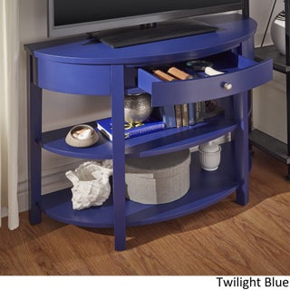 Fillmore Rounded 1-Drawer Console Table TV Stand by iNSPIRE Q Bold (2 options available)