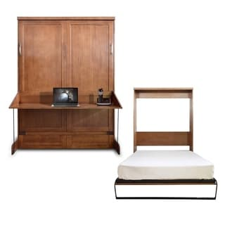 Queen Andrew Murphy Desk-Bed in Chestnut Finish