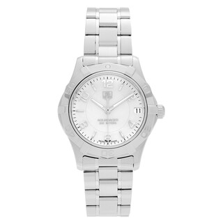 Tag Heuer Women's WAF1311.BA0817 'Aquaracer' Stainless Steel Mother of Pearl Dial Bracelet Watch
