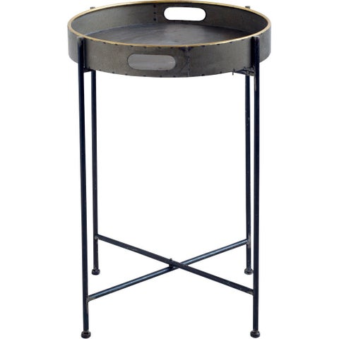 Mercana Donec Black Metal Accent Table