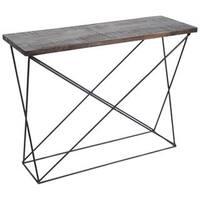 Mercana Claret II Brown Wood Accent Table