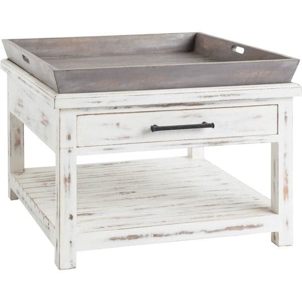 Mercana Discovery White Wood Side Table
