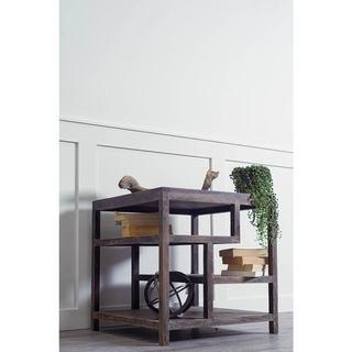 Mercana Wright II Brown Wood Side Table
