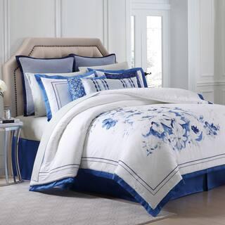 Charisma Alfresco Blue Floral Printed Sateen Comforter Set|https://ak1.ostkcdn.com/images/products/16820183/P23122525.jpg?impolicy=medium