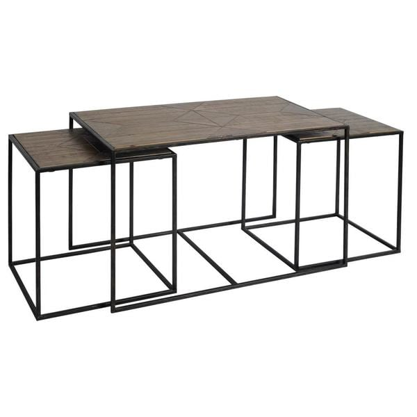 Mercana Belval Black Wood Nesting Accent Tables (Set of 3)