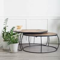 Mercana Clapp II Honey Brown Wood Coffee Table