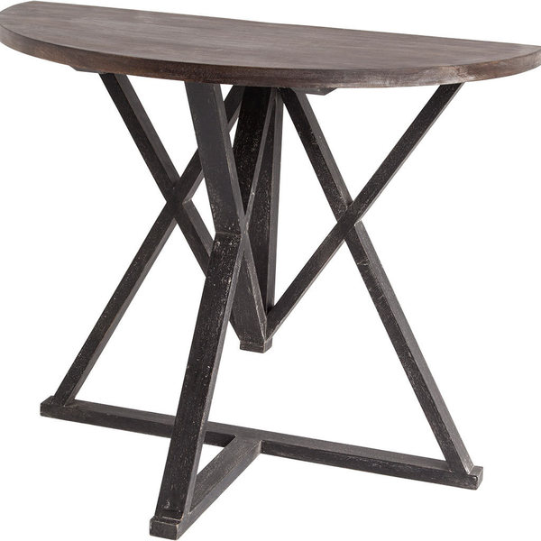 Mercana Milne II Black Wood Accent Table