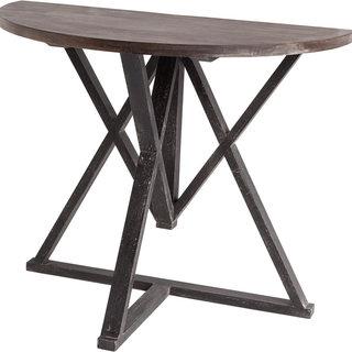 Mercana Milne II Black Wood Accent Table