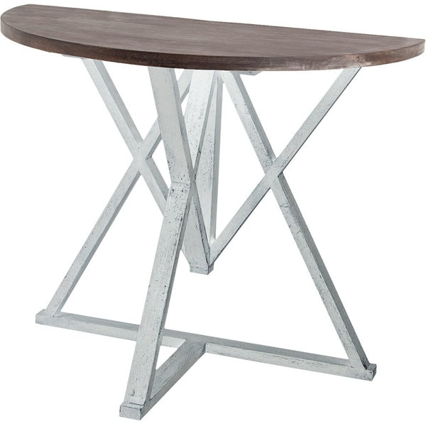 Shop Mercana Milne White Wood Accent Table Free Shipping