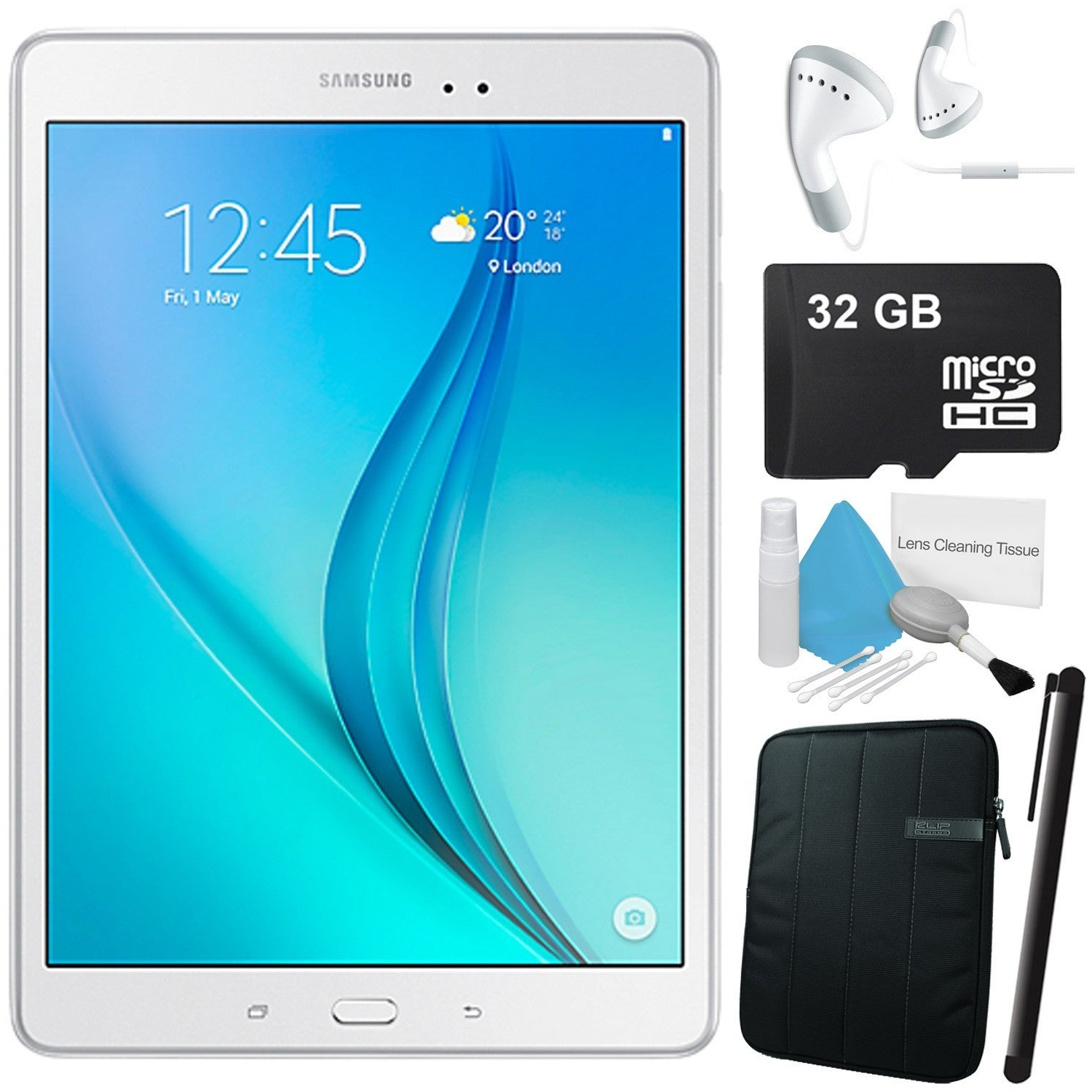 "Samsung 16GB Galaxy Tab A 9.7"" Wi-Fi Tablet (White) Bundl..."