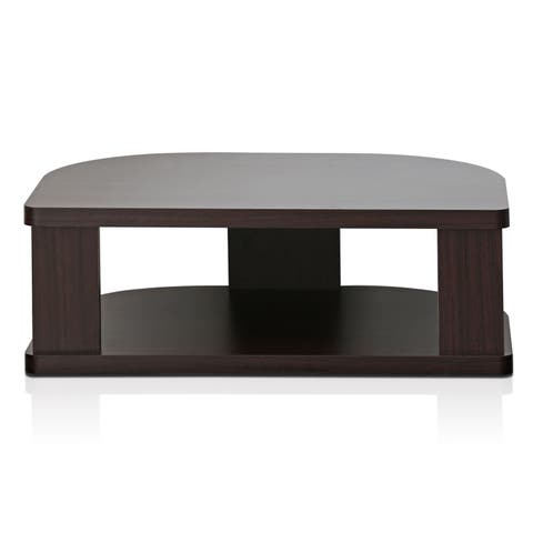 Furinno Indo FSP018EX Swivel Shelf for TV, Espresso