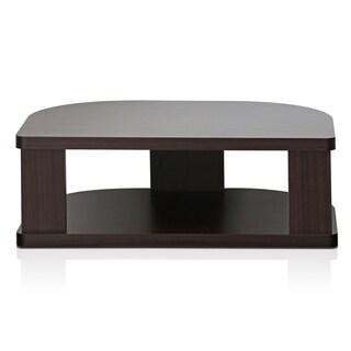 Furinno Indo FSP018EX Swivel Shelf for TV, Espresso