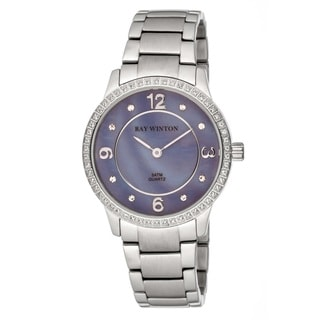 Link to Ray Winton Women's WI0105 Analog Lilac Mother Of Pearl Dial Crystal Bezel Silver Stainless Steel Bracelet Watch Similar Items in Men's Watches