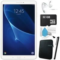 """Samsung 10.1"""" Galaxy Tab A T580 16GB SM-T580NZWAXAR + Neoprene Sleeve 10.1"""" Case + 32GB SD Card + Headphone ear-buds Bundle"""