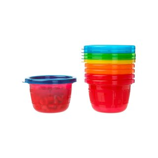 The First Years Red and Orange Take and Toss Snack Cups 4.5-ounce (Pack of 6)
